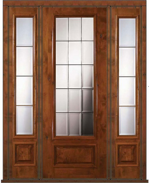 Double Wood Front Doors